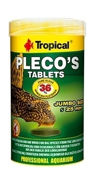TROPICAL PLECOS TABLETS 250ML/48 TABLETEK