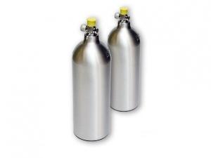 Butla stalowa do wielokrotnego użytku, 2L, napełniona Co2